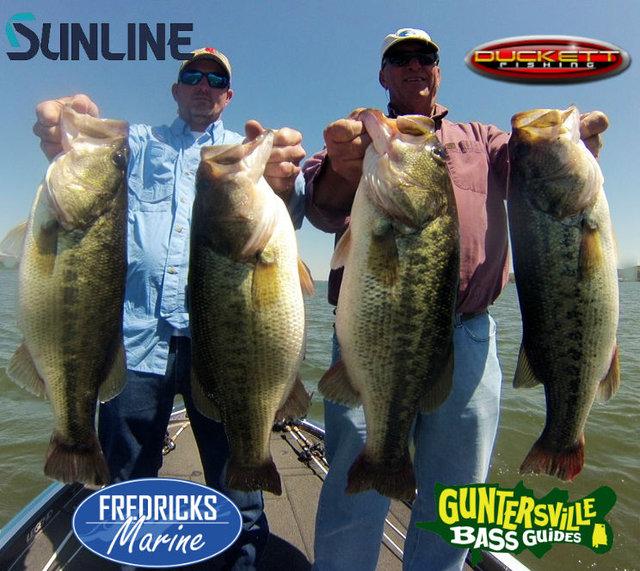 Lake guntersville fishing report for Lake guntersville fishing hot spots